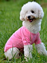Dog Shirt / T-Shirt Dog Clothes Solid Colored Yellow Red Green Blue Pink Cotton Costume For Pets