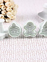 Mixed Christmas Pattern Cake and Cookies Cutter Mold (4 PCS)