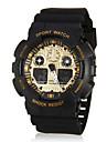 Men\'s Sport Watch Digital Watch LCD Calendar Chronograph Alarm Quartz Digital Rubber Band Black White