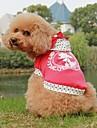 Собака Плащи Одежда для собак Хлопок Весна/осень В горошек Буквы и цифры Розовый Синий Костюм Для домашних животных