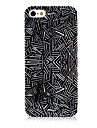 Black and White Line Pattern Silicone Soft Case for iPhone5/5S