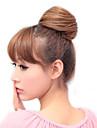 Luz Dourada Brown extensoes de cabelo liso sintetico elastico amarrado