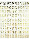 1PCS Смешанная цветочным узором Золотой Металл Nail Art Наклейки