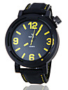 V6® Men\'s Casual Style Black Case Silicone Band Quartz Wrist Watch (Assorted Colors) Cool Watch Unique Watch