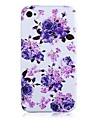 Pour Coque iPhone 5 Etuis coque Antichoc Coque Arrière Coque Fleur Flexible Silicone pour iPhone SE/5s iPhone 5