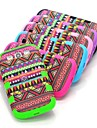 Red Aztec Tribal Hard Hybrid Shockproof Drop Resistant Case Cover Full Body for Samsung Galaxy S3 i9300