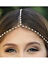 Этническая цепи с имитацией Перл золотого сплава Ободки для женщин (1 шт)