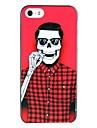 Hard Case grimaçant Motif Crâne noir Frame pour iPhone 5/5S