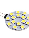 480 lm G4 LED Spotlight 15 leds SMD 5050 Warm White Cold White DC 12V