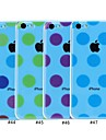 Elonbo Round Dots Transparent Design Style Hard Back Case Cover for iPhone 5C(Assorted Colors)
