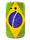 Cas de couverture de modèle de rétro Brésil drapeau national arrière dur pour Samsung Galaxy S3 Mini I8190