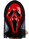 Red Ghost Mask with Head Cover Scream Practical Joke Scary Cosplay Gadgets for Halloween Costume Party