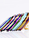 12 pcs Foil Stripping Tape Abstract / Fashion Daily Nail Art Design
