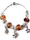 Brown Beads Charm Bracelet for women European Style Handmade beaded bracelets