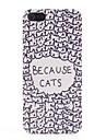 때문에 아이폰 5/5S를위한 고양이 패턴 PVC 뒤 케이스