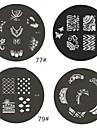 1 Parte M Series arredondado Abstract Design Nail Art Stamp Estamparia Imagem da Placa No.77-80 (Padrão sortidas)