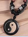 марочные (вола кости) черной ткани кулон ожерелье (черный) (1 шт) ювелирные изделия