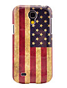 Retro US National Flag Pattern Hard Back Cover Case for Samsung Galaxy S4 Mini I9190