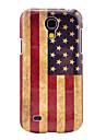 Cas de couverture de rétro Motif drapeau national des États-Unis soutiennent dur pour Samsung Galaxy S4 Mini I9190