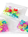 Tools or Charms for Rainbow Colorful Loom C-Clips Hot DIY Rubber Band Hook Connector(24 Pcs)