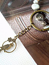 Vintage Bronze Round Bird Shape Keychains(1 Pc)