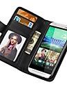 스탠드 fuction를 가진 HTC 하나의 M8을위한 지갑 작풍 PU 가죽 케이스