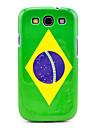 갤럭시 3 I9300에 대한 브라질 깃발 본 케이스 덮개