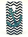 The Wave Leopard Anchor Pattern Plastic Hard Case for Motorala Moto G