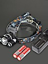RJ-3000 Headlamps Chargers LED 4000 Lumens 4 Mode Cree XM-L T6 Rechargeable Strike Bezel for Camping/Hiking/Caving Traveling Black