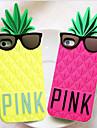 JOYLAND bel ananas bande dessinée gel de silice Couverture arrière pour iPhone 4/4S (couleurs assorties)