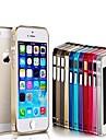 Cas de vue de l'aluminium mince mince de butoir en métal pour l'iPhone 5/5S (couleurs assorties)