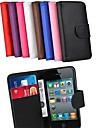 Card Holder Wallet PU Leather Case for iPhone 5/5S (Assorted Colors)