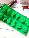 снеговик новогодняя елка палочка носки торт шоколад формы, силиконовые 22,6 × 10 × 1,5 см (8,9 × 3,9 × 0,6 дюйма)