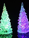 1pc albero di Natale Night Light LED Batterie alimentate Impermeabile / RGB