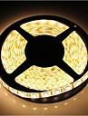 zdm ™ 5m impermeavel 72W 300 * 5050 SMD 4800lm luz branca quente LED luz tira (DC12V)