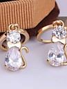 Women's New Arrival 18K Gold Plated Cute Animal Design Zircon Earrings ER0131