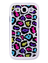Crystal Surface Colorful Leopard Pattern Back Case for Samsung Galaxy S3 I9300