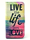 Live Life Sea Pattern PU Leather Full Body Case with Card Slot for Samsung Galaxy S5 I9600