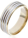 Anéis Pesta / Diário / Casual Jóias Aço Inoxidável Feminino Anéis Grossos6 / 7 / 9 / 8½ / 9½ Dourado