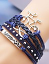 Leather Bracelet Multilayer Alloy Bicycle and Love Infinite Handmade Bracelet Christmas Gifts