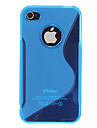 아이폰 4/4S (분류 된 색깔)를위한 품질 실리콘 피부 상자 덮개