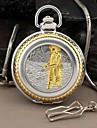 Мужская Рыболов Стиль Круглый римские Большие цифры набора Кварцевые Аналоговый карманные часы