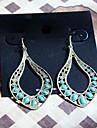 Vintage Bronze Copper Drop Earrings(Bronze)(1 Pair)