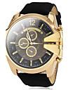 V6 Муж. Наручные часы Армейские часы Кварцевый Повседневные часы PU Группа Кулоны Черный Коричневый Зеленый Темно-синий