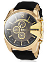 V6 Men\'s Wrist watch Military Watch Quartz Casual Watch PU Band Charm Black Brown Green Navy