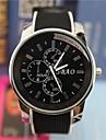 Men's Big Round Dial Rubber  Band Analog Quartz Wrist Watch (Assorted Colors) Cool Watch Unique Watch Fashion Watch