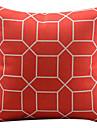 1 pcs Coton/Lin Housse de coussin, Geometrique Moderne/Contemporain