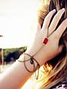 shixin® классический красный смолы кисточкой кольцо форма браслет (1 шт)