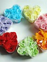 6 Creative Romantic Heart-shaped Rose Soap Flowers(Random Color)