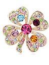 (1 шт) сладкий полный алмазов clovercm унисекс как изображение сплава кристалла броши